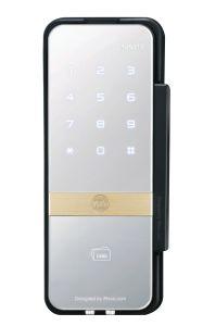 Digital Door Lock (Rim Lock for Glass Door) with Biometric, PIN Code, Mechanical Key & Remote Control (Optional)